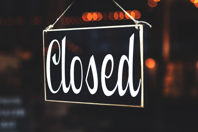 Banners and Alerts and Selective Focus Photography of Closed Signage Free Stock Photo