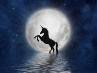 Banners and Alerts and Unicorn Moon Full Free image on Pixabay