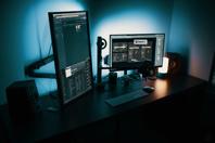 Black Flat Screen Computer Monitor Free Stock Photo