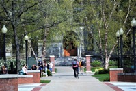 College campus in the spring 27WVKP6  1