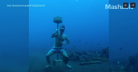 Freediving is like getting high 300 feet underwater
