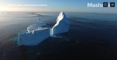 Giant icebergs are a big tourist draw in Newfoundland and a warning sign