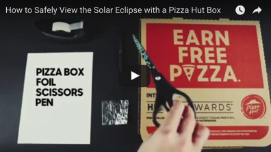 Here s how to use a leftover pizza box to view the upcoming eclipse