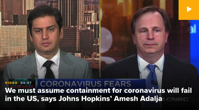 Johns Hopkins Dr Amesh Adalja says new coronavirus is here to stay