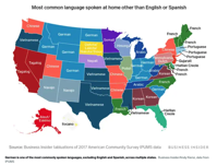 MAP What s the most common language in every state Business Insider