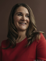 Melinda Gates is helping fund a new initiative at the University of Maryland and George Mason University to draw more female students to their tech degree programs. THE NEW YORK TIMES/KYLE JOHNSON