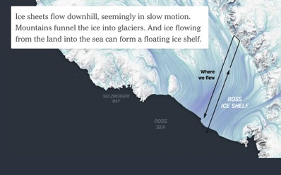 Miles of Ice Collapsing Into the Sea The New York Times
