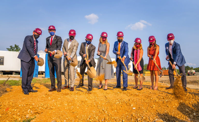 State, city and Virginia Tech leaders were present on Sept. 14 for the groundbreaking of Virginia Tech's first academic building in Potomac Yard. (Photo/Virginia Tech)
