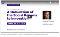 Benjamin F. Jones argues that the 2.7 percent of the US GDP spent on innovation isn't nearly enough. Benjamin F. Jones argues that the 2.7 percent of the US GDP spent on innovation isn't nearly enough.