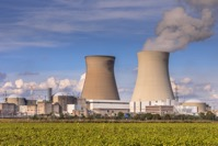 Nuclear power plant with cooling towers GH3DU4F