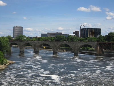 Minneapolis Bridge Minnesota River Mississippi