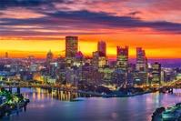 Pittsburgh pennsylvania usa city skyline Y8LCTHU