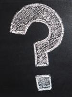 Question drawn on a blackboard.