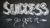 Success written on a chalk board