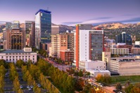 Salt lake city utah usa financial district WCLKMGF