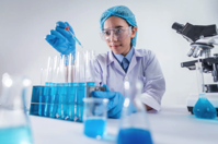 Scientist Working in Laboratory Free Stock Photo