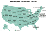 The Best College In Each State For Getting A Job 2019 Zippia