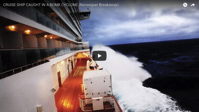 Video from onboard the cruise that traveled through the bomb cyclone
