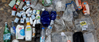 One week's worth of plastic waste collected by just one family. Many say they reuse and recycle as much as possible but need more solutions to ensure they can be truly effective. Image: REUTERS/Paul Hanna - RC163CC264B0