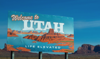 Welcome to Utah Poster Under Blue Daytime Sky Free Stock Photo