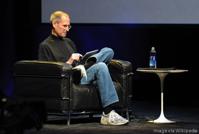 wikipedia Steve Jobs during first iPad reveal.