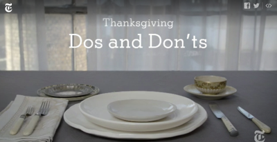 How to Host Thanksgiving Dos and Don ts Video NYTimes com