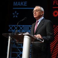 MIT President L. Rafael Reif on the Solve stage earlier this week.