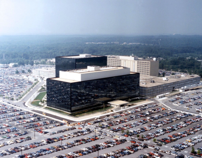 NSA headquarters building in Fort Meade (left), NSOC (right) / Credit: Wikicommons