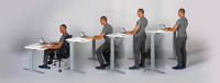 The Stir Kinetic Desk helps you keep moving throughout the day.