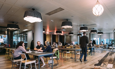 Fore Street is the largest of New York-based WeWork's five London locations .