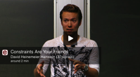Stanford s Entrepreneurship Corner David Heinemeier Hansson 37signals Constraints Are Your Friends