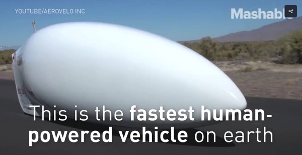 This futuristic bike is the fastest human powered vehicle on earth