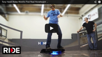 Tony Hawk takes a spin on the world s first real hoverboard MNN Mother Nature Network