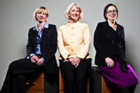 Photograph by Chris Goodney/Bloomberg From left: Golden Seeds' Jo Ann Corkran, managing director; Stephanie Hanbury-Brown, founder; and Peggy Wallace, managing director