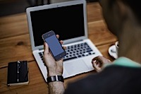 Business meeting and upward graph Flickr Photo Sharing