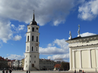 Cathedral Vilnius Lithuania Tower Europe City