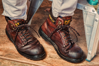 bootstrapping Work Boots Footwear Protection Leather Safety Boot