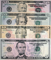 Dollars Dollar Bills Banknotes Money