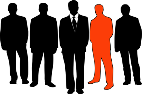 Businessmen Leader Group Business Men Orange