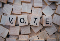 Vote Word Letters Scrabble