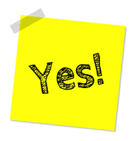 Yes Note Message Office Text Success Solution