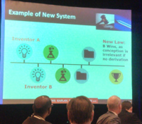 Cyrus Morton gave this example of how patent law has changed under the new America Invents Act. Read more: http://medcitynews.com/2013/05/7-things-you-should-know-about-protecting-ip-under-the-updated-patent-laws/#ixzz2SthccSr2